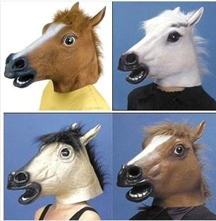 new party mask latex zombie horse head mask halloween mask