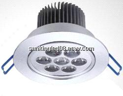 Jiangmen 7W led round downlight, 7x1w led office spotlight 220V, led ceiling light 7 watts