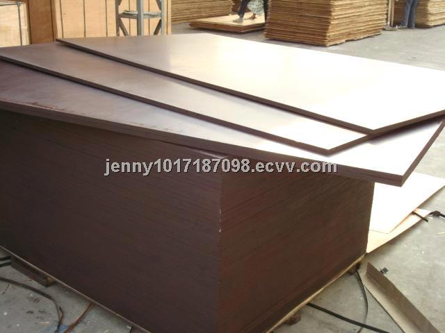 18mm Poplar Core Black Film Faced Plywood Chinese Phenolic Brown