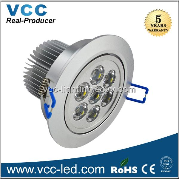 2014 95mm cutout 7 watts led downlight