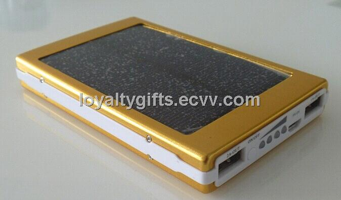 2014 yellow color the newest solar energy power bank