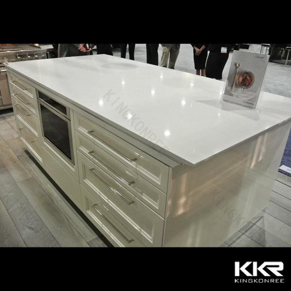 30mm Thickness Artificial Quartz Stone Kitchen Countertop From