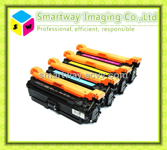 CE250 CE251 CE252 CE253 color toner compatible for HP printer CP3525DN