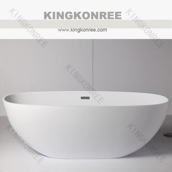 Kingkonree acrylic solid surface bathtub price/1700mm free ...