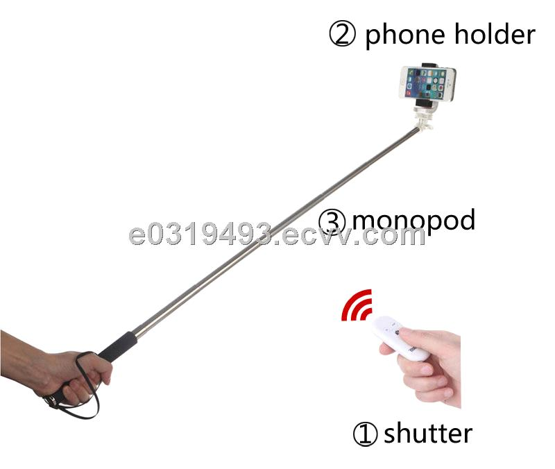 Monopod selfie package - extendable monopod with Bluetooth camera shutter