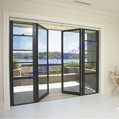 Opening Door With Grey Glass Double Opening Door French