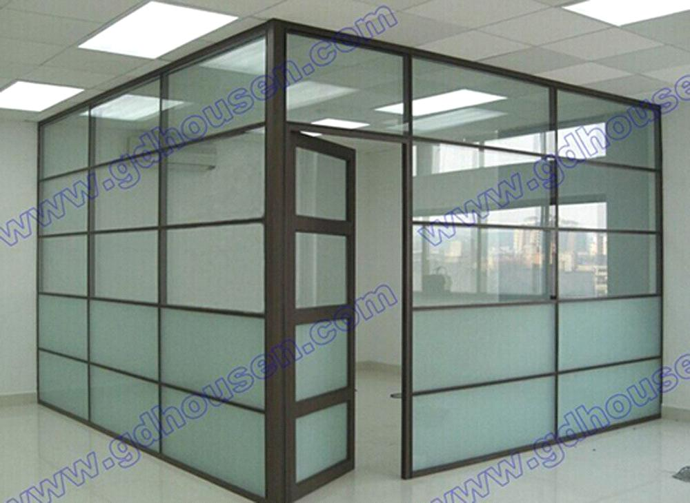 Room Dividers Glass Wall Aluminium Profile With Glass To