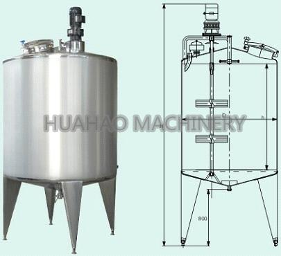 Single layer mixing storage tank