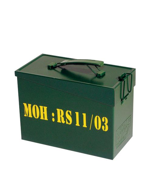 ammo metal box military case