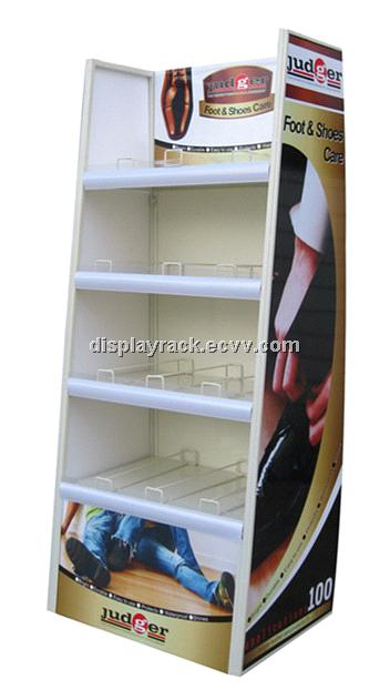 cosmetic display stand/LED cardboard display rack/shoe stand