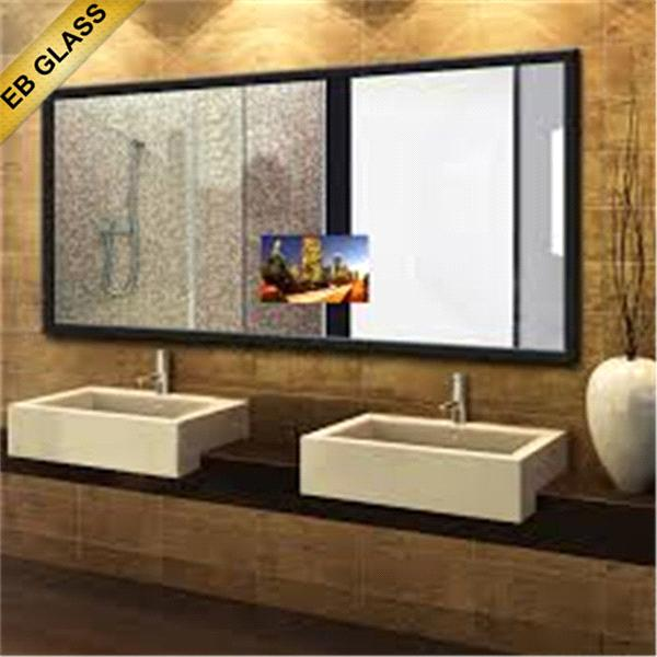 hotel mirror glass TV ,eb glass,waterproof bathroom tv mirror glass