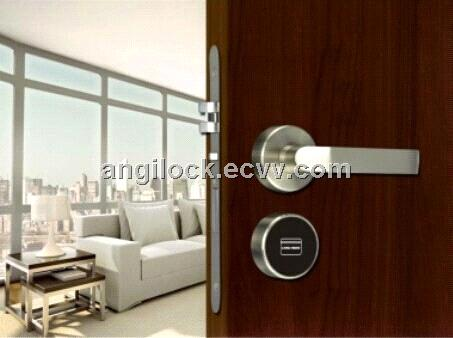 Hotel RFID Mifare Split Card Lock Euro mortise