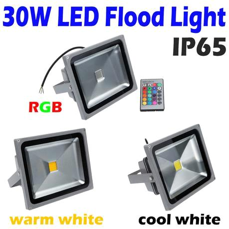 30W LED Flood Light Warm White RGB Remote Control led Floodlight Outdoor Landscape Lighting
