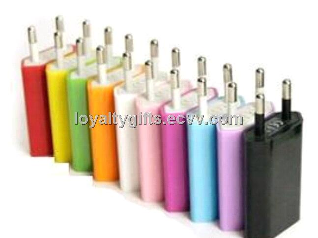 EU Plug USB Power Charger Adapter for iPhone 4/4S/5/5S/5C