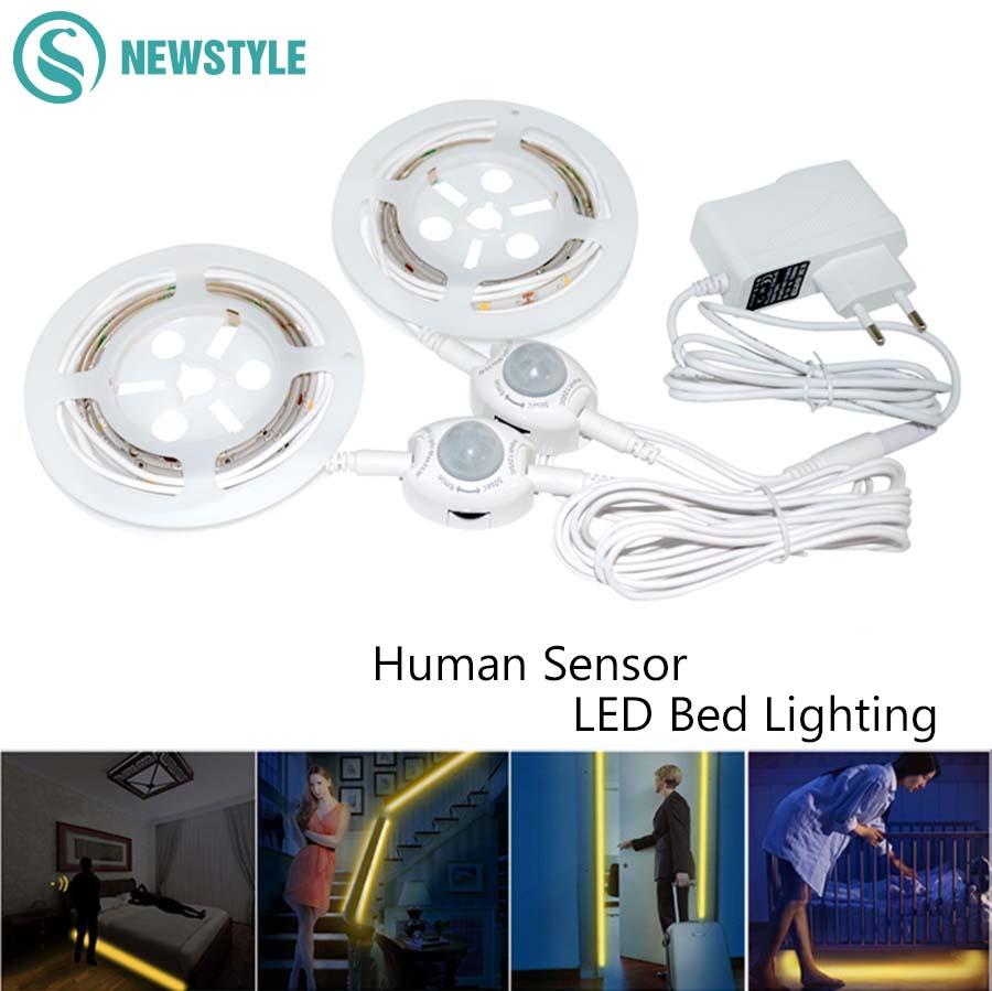 the best attitude 36795 0cacf DC12V Sensor Night Light Flexible LED Strip IP65 Motion ...