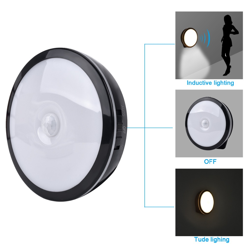 Espow Motion Sensor bright LED Night Light Wireless Rechargeable Build-in Lithium Battery Cabinet Bedside Home light