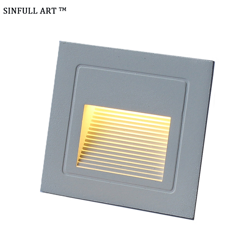 LED Stair Step Light Outdoor Floodlight Waterproof Pathway Path Corner Wall Lamp