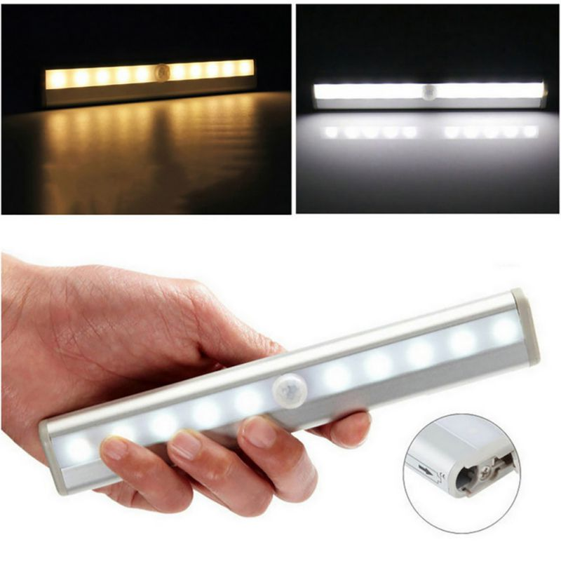 L0406 10 LED IR Infrared Motion Detector Wireless Sensor Closet Cabinet Light Lamp