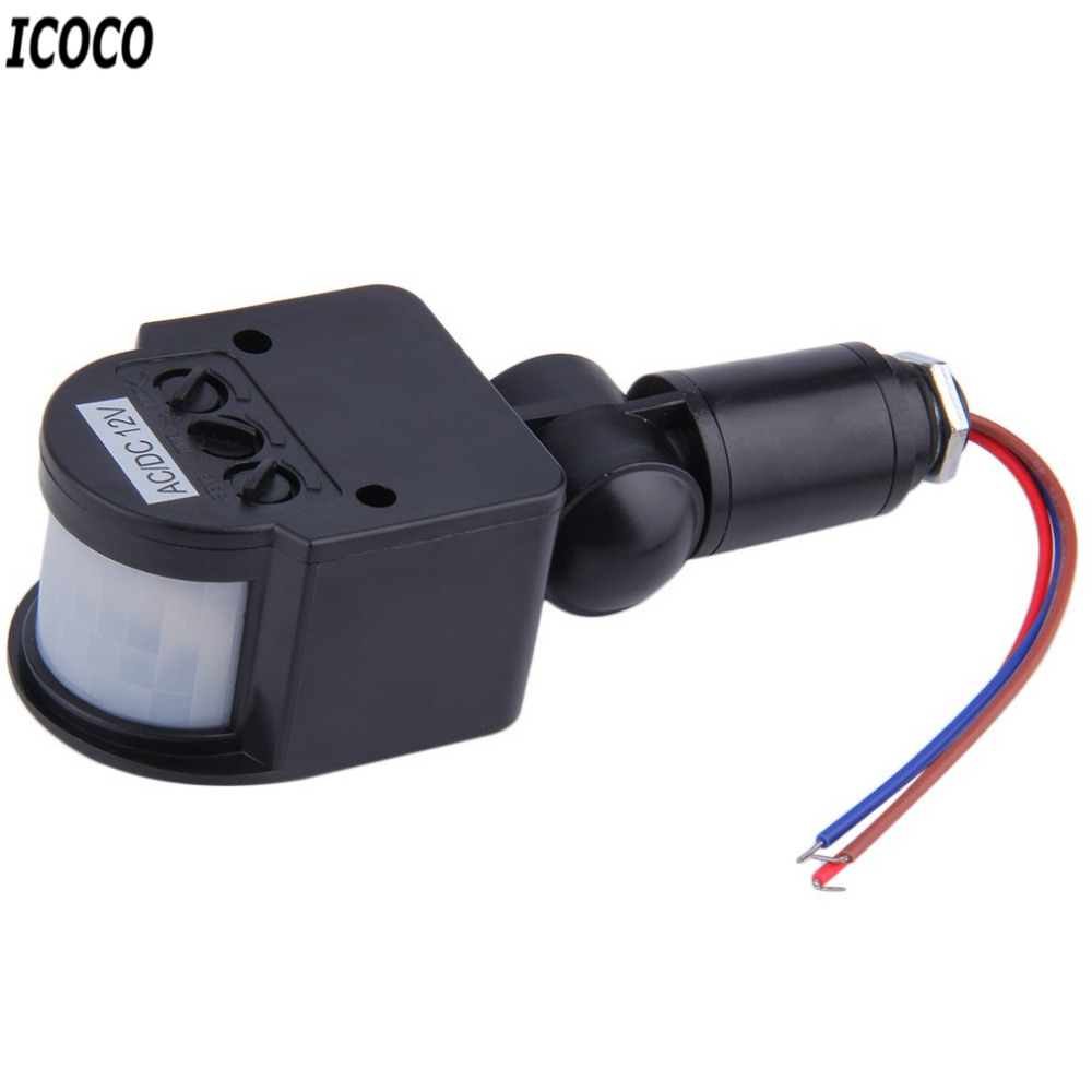 Icoco 1pc Automatic Pir Infrared Motion Sensor Detector Switch For Light With Led Security Popular Quality