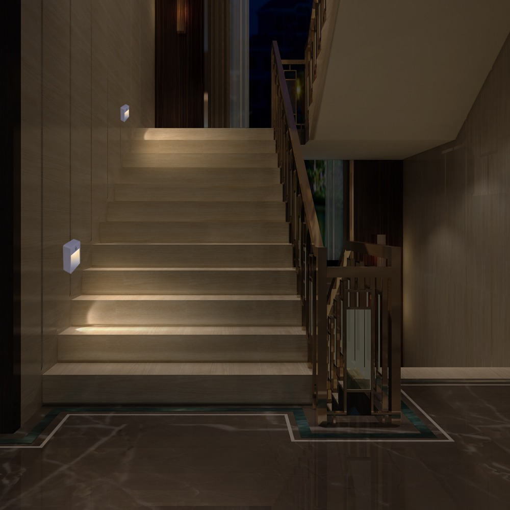 Espow LED PIR Motion Sensor Night Light Intelligent Lamps LED Body Motion Induction Battery Powered Stick / Hanging Stairs