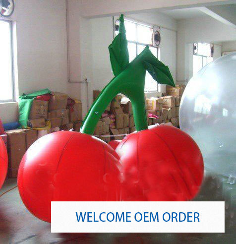 1M Inflatable Cherry Balloon for your advertisement Can custom