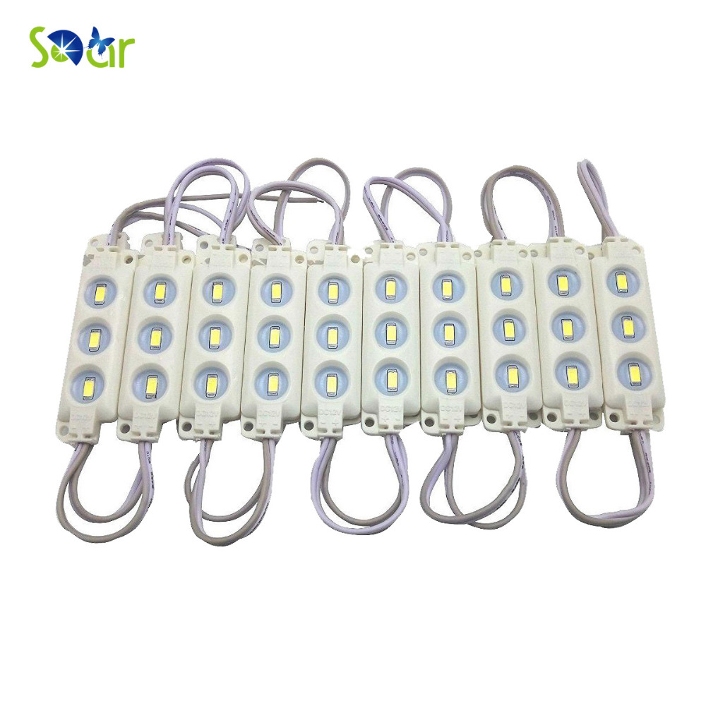 1000pcs Injection LED Waterproof DC 12V 120 Degree 5730 3-LED/Piece Injection Module Channel Letter Sign Billboard Light