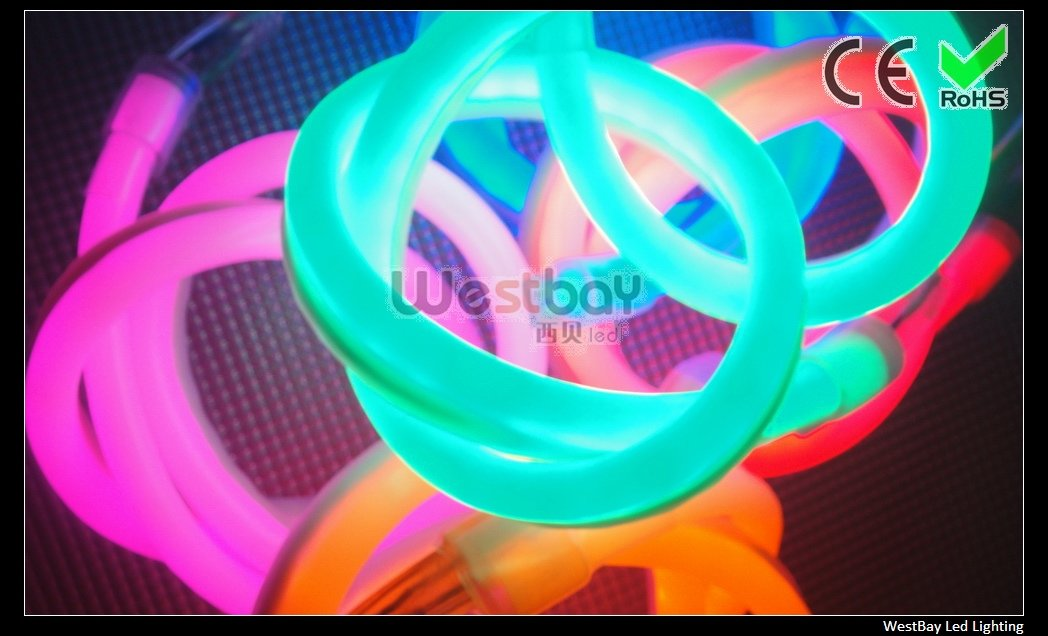 Mini size 10*22mm, beautiful green color, even light effect with competitive price, Green led neon flex, 50 meters per roll