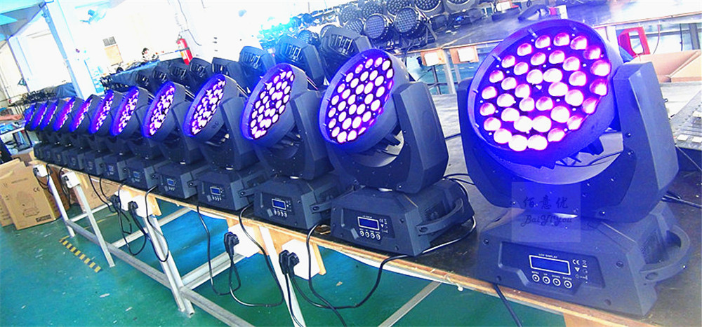2pcs/lot Led Moving Head Zoom Light 36*10W RGBW 4in1 With Dmx512 |Led Moving Head Wash Zoom Light