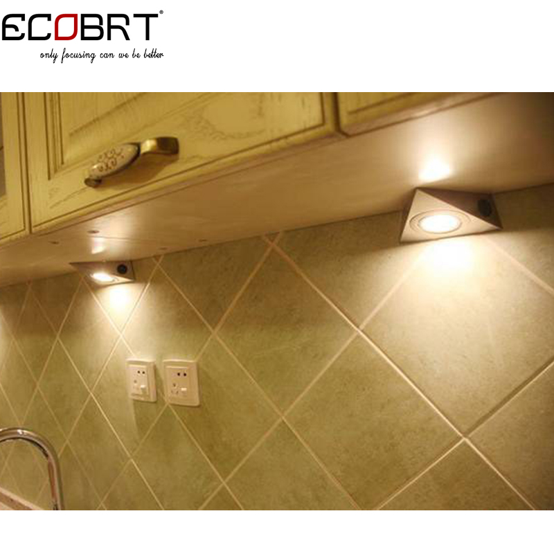 Modern Triangle Led Under Cabinet Lights With Rocker Switch 110v
