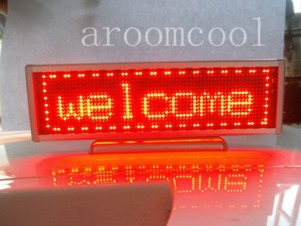 Red Programmable LED Message Display Panel Board 16x64