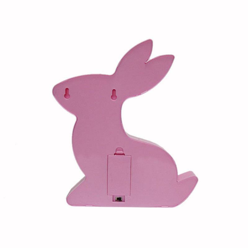 New Rabbit Style LED Night Light For Children Baby Kids Bedside Lamp White Battery Opeed Nightlight