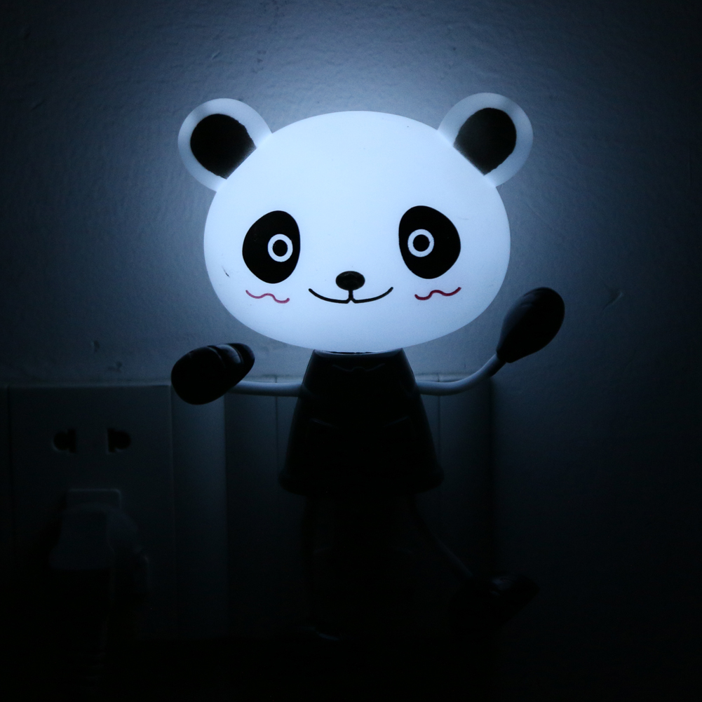 ( US Plug) AC90V-240V Creative Lovely Animal Night Children Kids Toys Gift Light Control LED Wall Decorative Light Lamp