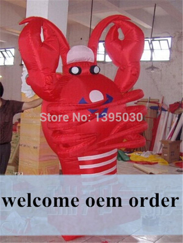 3m Inflatable Lobster Balloon for Advertising Oxford Cloth Giant Balloon for Hotel Restaurant Decoration