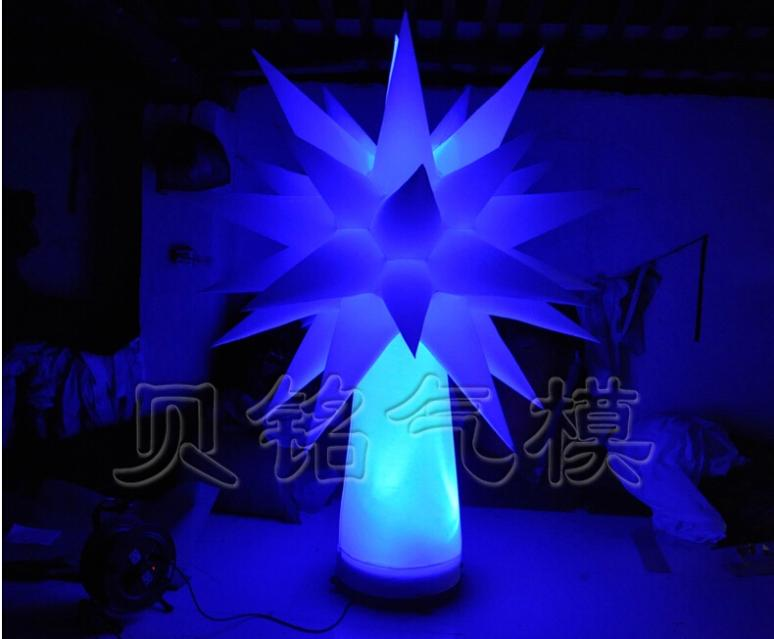 Popular Colorful Custom LED Inflatable Lighting Tree Decoration Star for Festival & Party Event