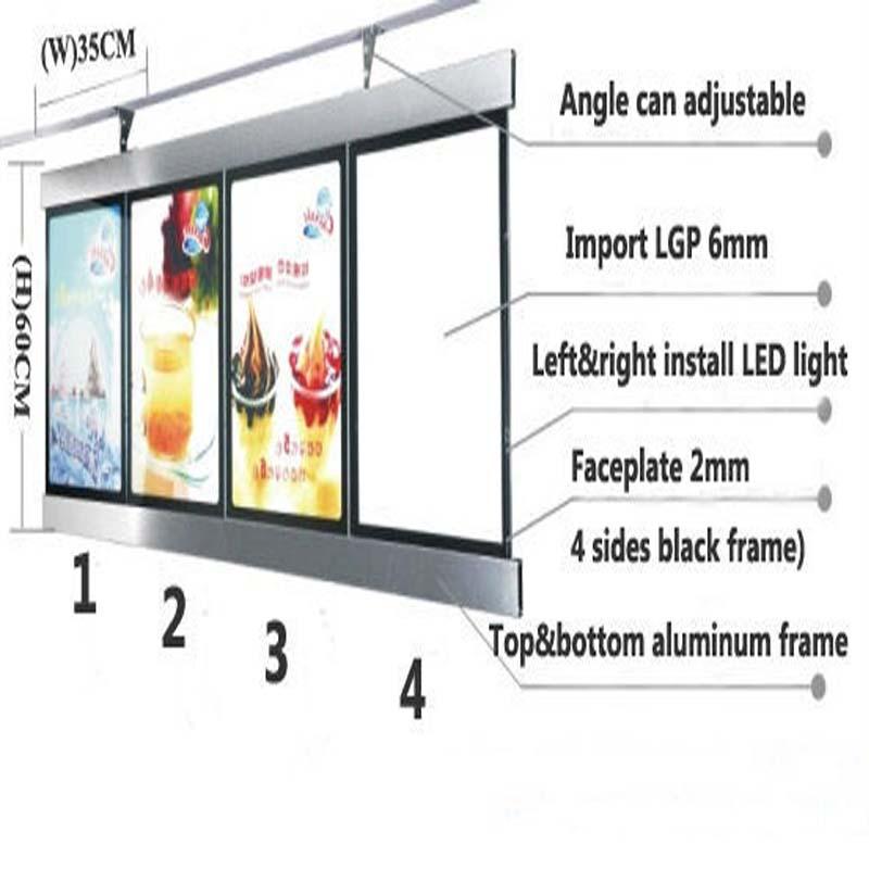2 Graphics/column) Single Sided Illuminated LED Menu Board