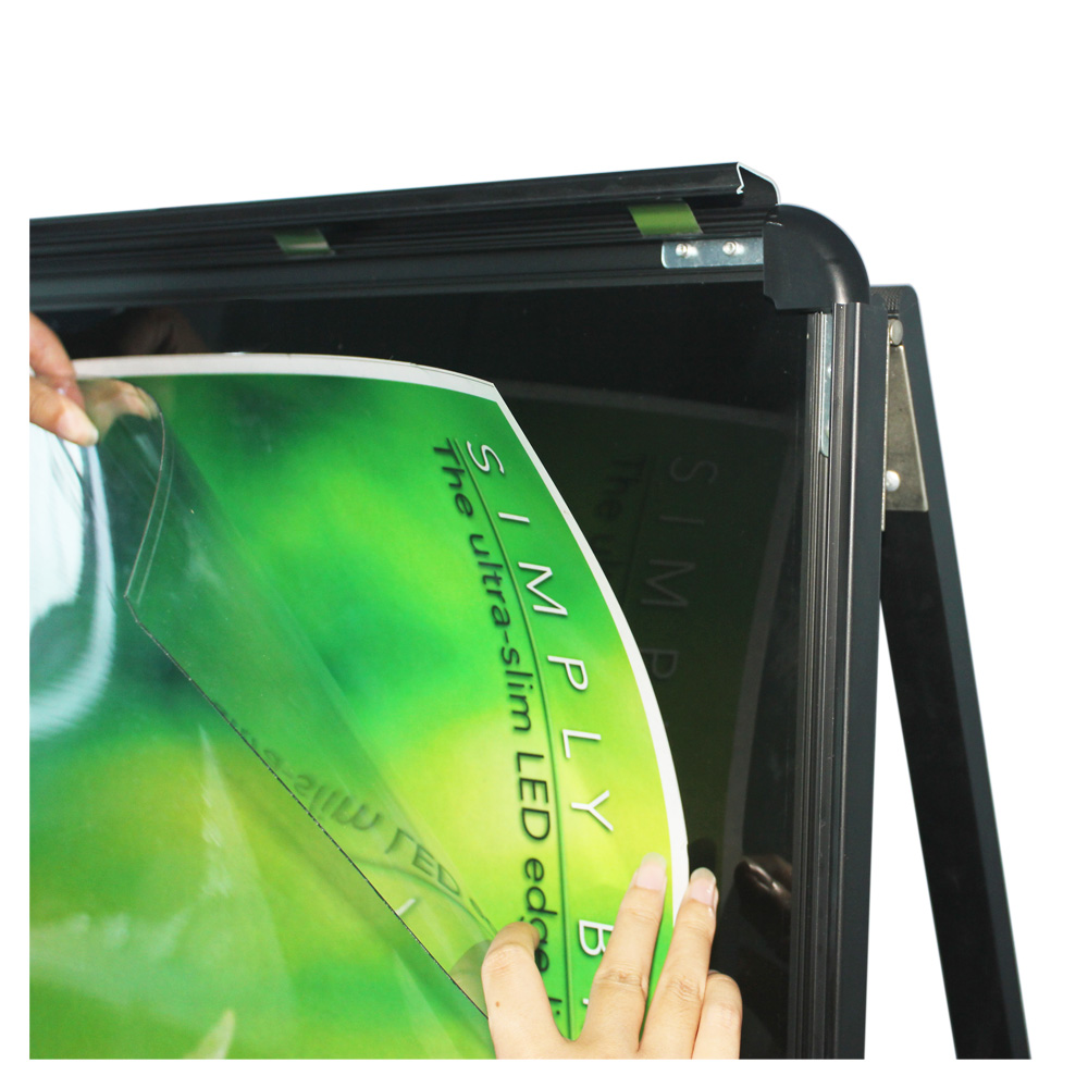 A1 Illuminate A-frame Sidewalk Sign - Centch LED Portable Advertising Display Stand Resatuarant Menu Board Snap Aluminum Frame