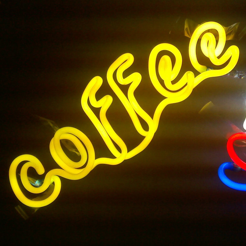 Advertising Coffee neon sign led soft neon sign for bar