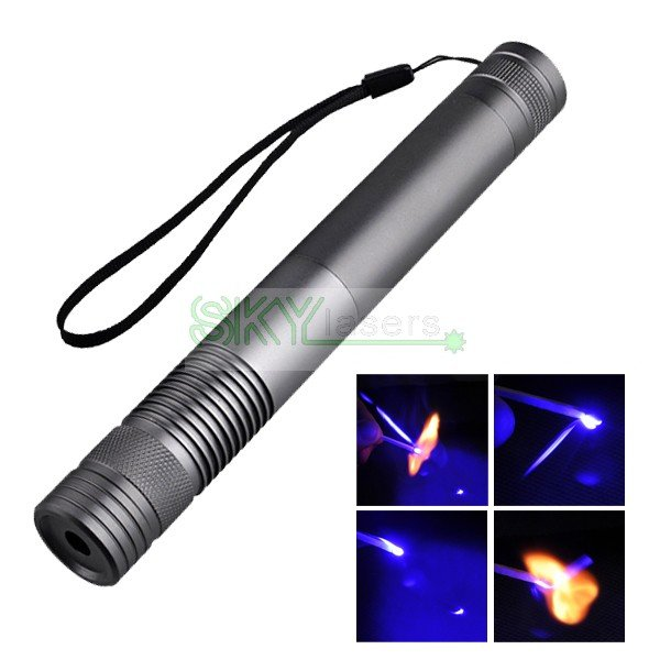 445nm/447nm/450nm 1000MW High Power Blue  Laser Pointer with Glasses+2 * 16340 Battery +Charger