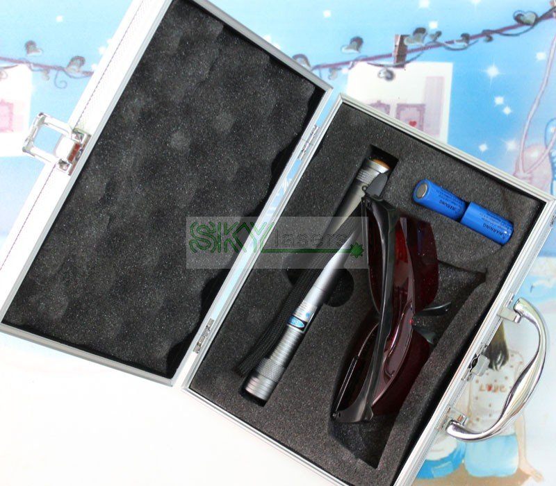 Burning Laser Light match Easily 10000mW 450nm High Power blue Beam Laser Pointer  with charger & battery & Glasses