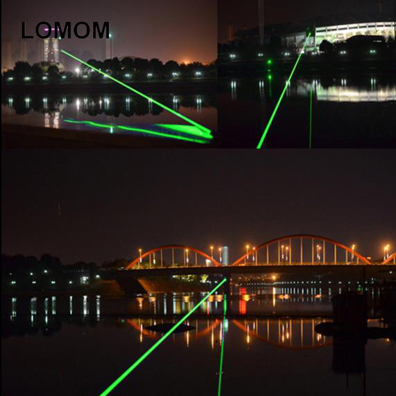 2000 M G303 Green Laser Flashlight Waterproof  Laser Pointer Adjustable Focal Length and Star Pattern Filter +Battery+Charger