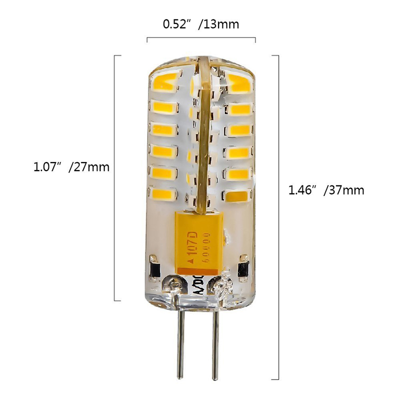 6pcs G4 48-LED Warm White Light Crystal Bulb Lamps 3 Watt AC DC 12V Non-dimmable Equivalent to 20W Incandescent Bulb  --
