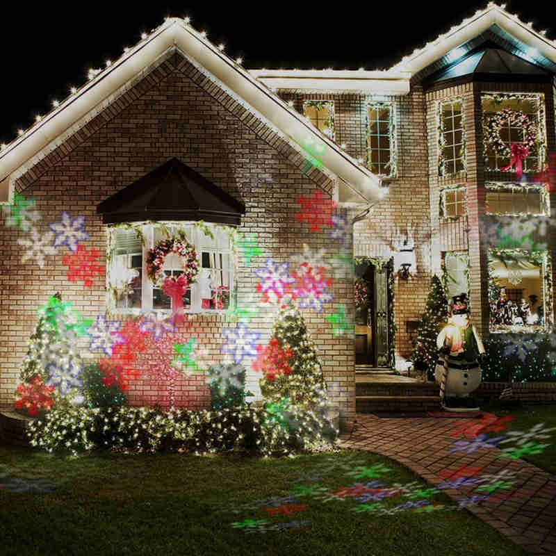 Snowflake Moving LED Laser Projector Disco Stage Xmas Halloween Party Club Lighting Lamp Light