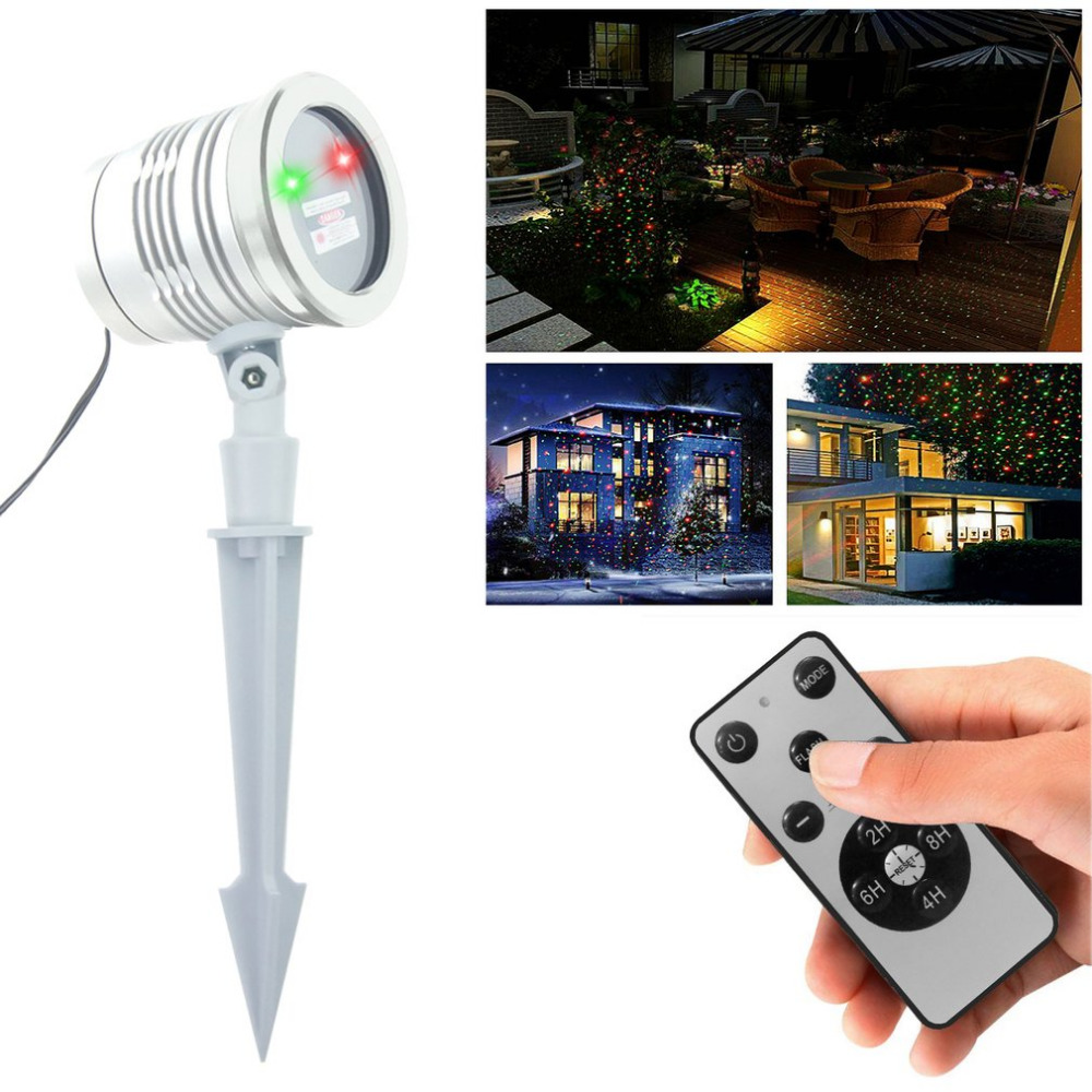ICOCO Mini Laser Light LASER STAR II Red Green Starry Sky Star Pattern Waterproof Laser Lamp For Building Decoration