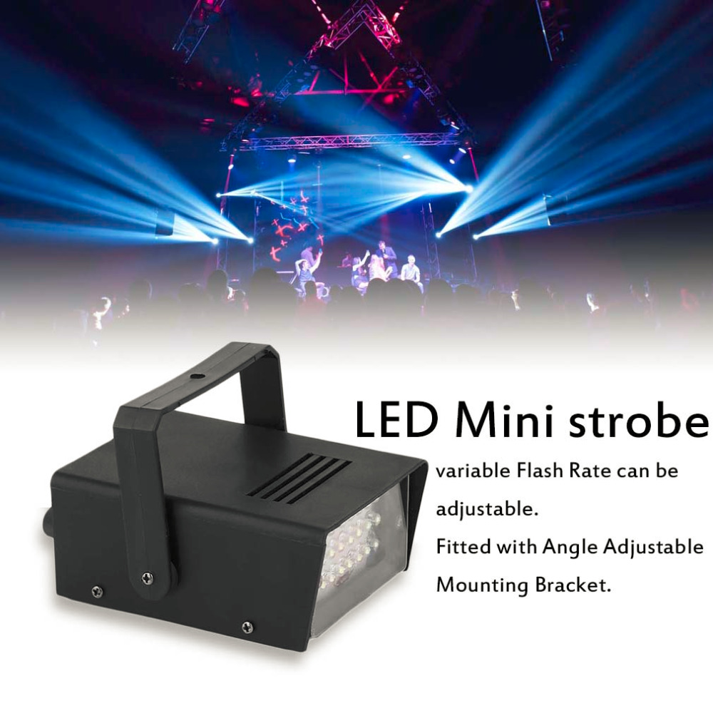 Professional 220V Operated DJ KTV Party Stage Light Effects Light LED Mini Strobe Light Stage White Light Color New Arrival