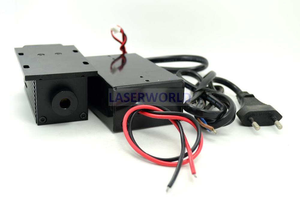 532nm 200mw DPSS Laser Module w/TTL + Fan 10V-220V W/EU-Plug
