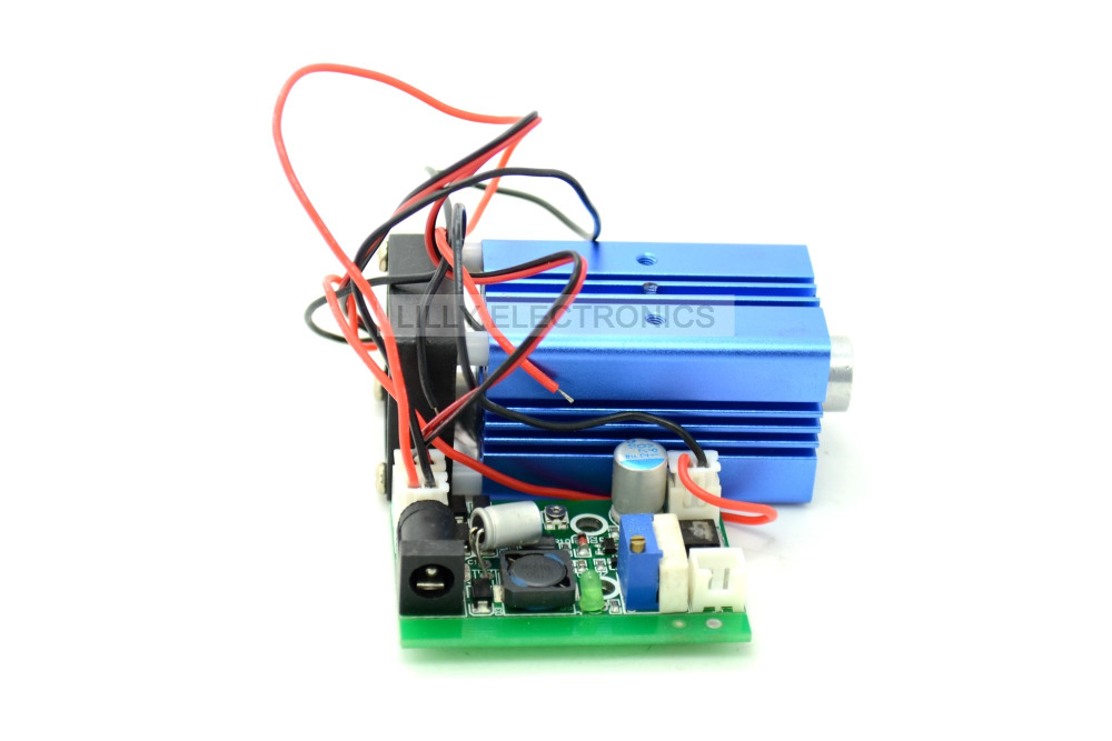1.3W-1.5W 445nm 447nm 450nm Blue Laser Dot Module 12V+ TTL+ Fan