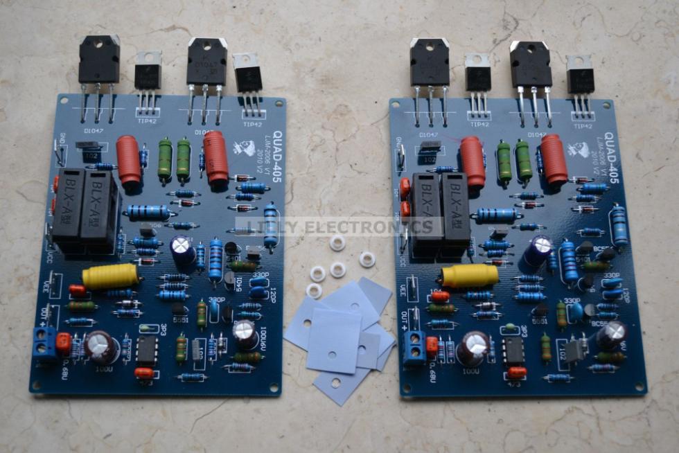 2pcs/lot Assembled QUAD405 mono Audio Power Amplifier Board DC +/-
