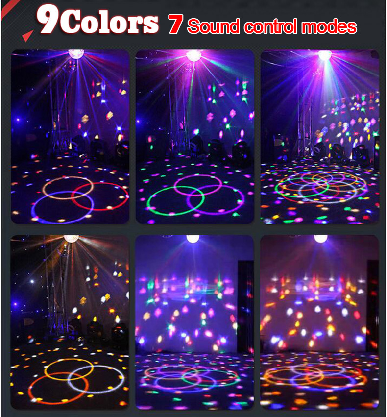 Upgrades Crystal Magic Ball Led Stage Lamp 7 Voice Control