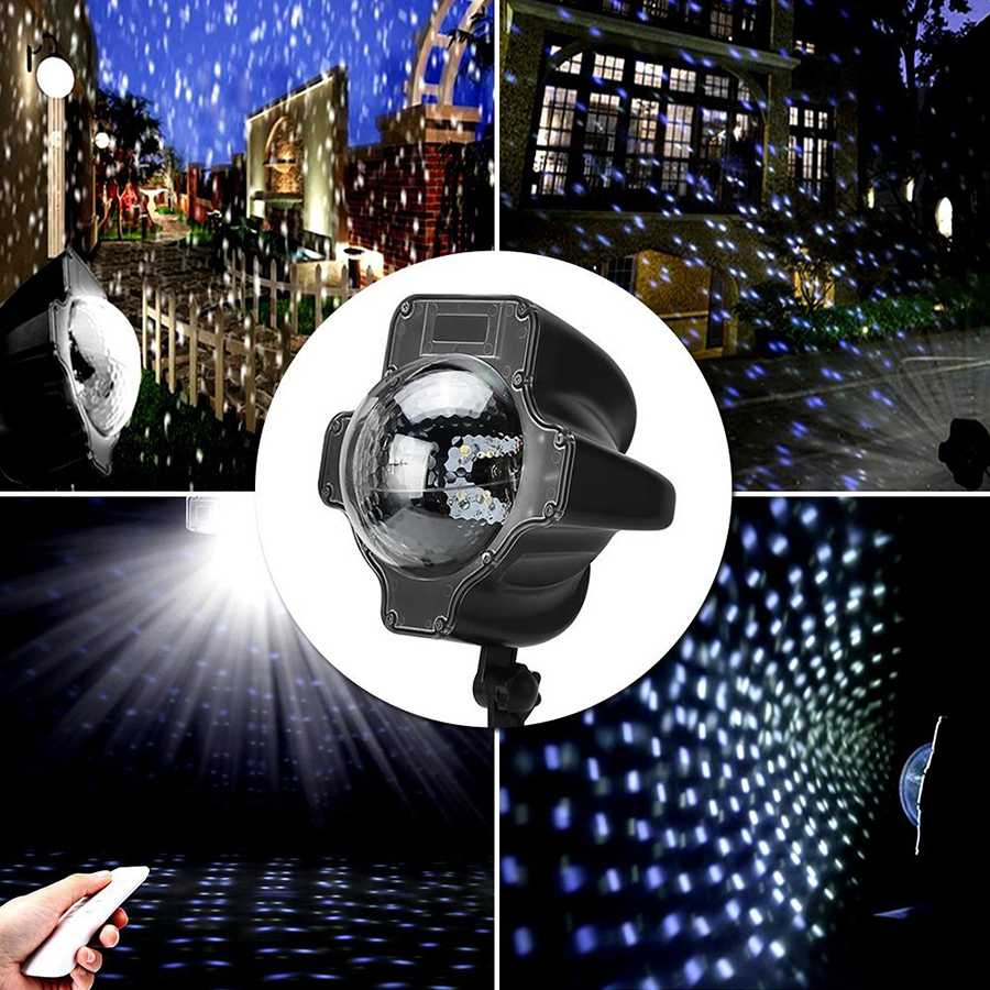 Thrisdar IP65 Moving Snow Outdoor Garden Laser Projector Lamps Outdoor Snowfall Laser Light Christmas Garden Landscape Spotlight