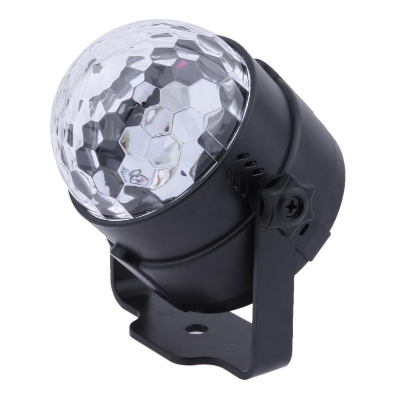 6 Colors Crystal Magic Ball Led Stage Lamp USB Mini Disco